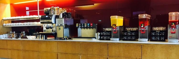 Self serve drinks bar